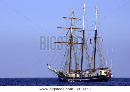 Three Sail Schooner