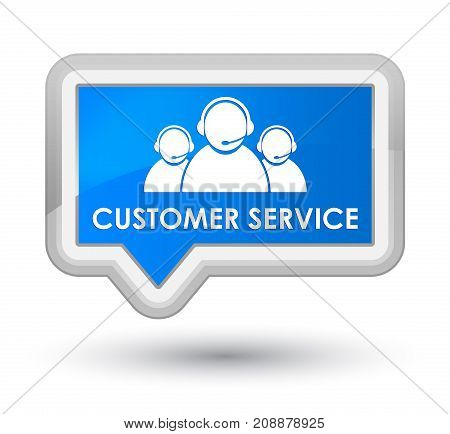 Customer Service (team Icon) Prime Cyan Blue Banner Button