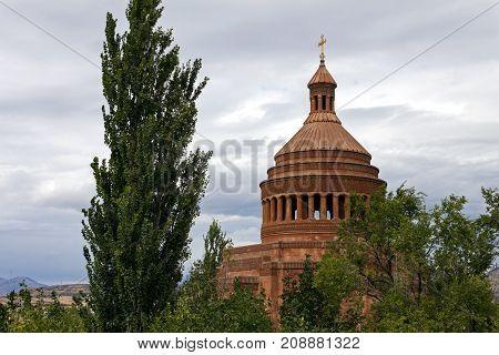 Saint Hovhannes church,the largest in Abovyan city,Armenia.