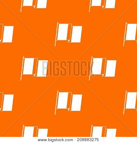 Flag of Ireland pattern repeat seamless in orange color for any design. Vector geometric illustration