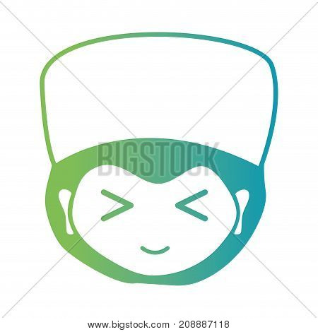 line man doctor head with hairstyle design vector illustration