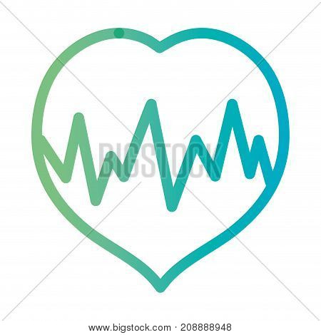 line heartbeat medical frequency cardiam rhythm vector illustration