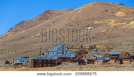 abandoned old wild western gold ghost town in decay usa