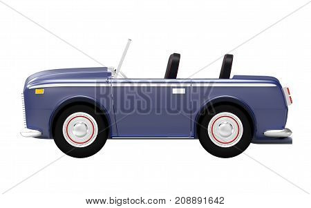Car Luxury Cabriolet Dark Blue Side