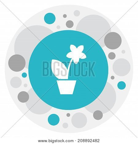 Vector Illustration Of Relatives Symbol On Plant In Pot Icon