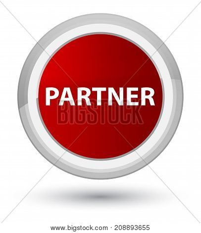 Partner Prime Red Round Button