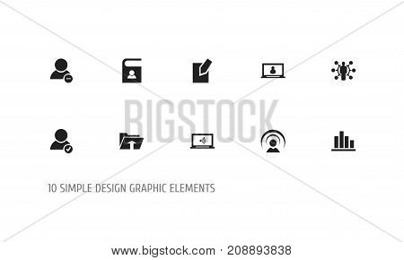 Set Of 10 Editable Network Icons. Includes Symbols Such As Transfer, Monitor, Skill And More