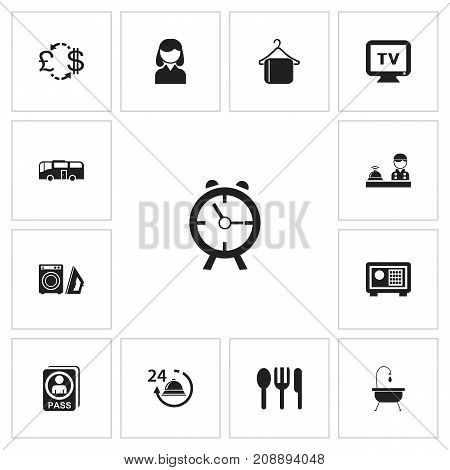 Set Of 13 Editable Travel Icons. Includes Symbols Such As Monitor, Citizenship, Transportation And More