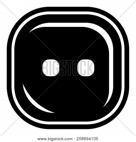 Craft button icon. Simple illustration of craft button vector icon for web