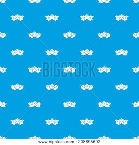 Hops pattern repeat seamless in blue color for any design. Vector geometric illustration