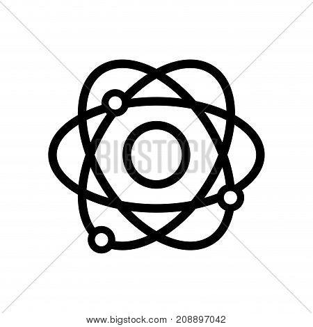 line physics orbit atom chemistry education vector illustration