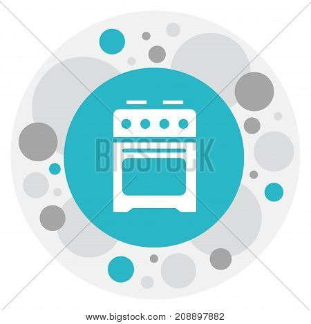 Vector Illustration Of Cook Symbol On Cooker Icon