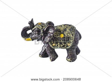Elephant, A Symbol Of Good Luck. Elephant Isolated On White Background.