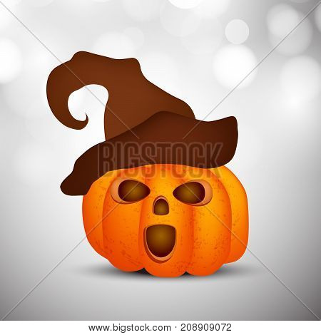 illustration of pumpkin in hat on the occasion of Halloween Celebration
