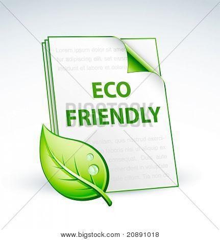 paper eco friendly icon