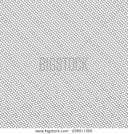 Vector seamless pattern. Modern simple geometrical texture with small outline rhombuses and diagonal strips. Digital paper. Thin line. Abstract regularly repeating background.