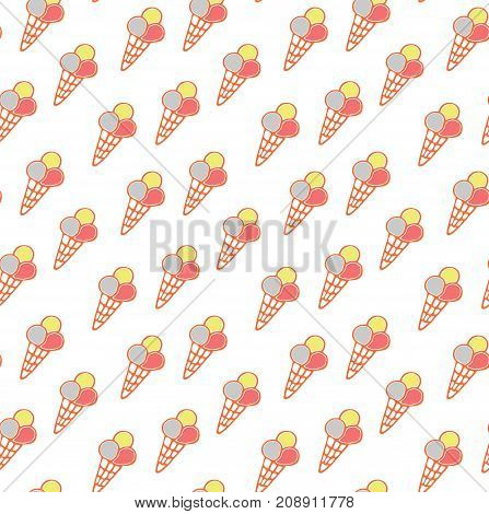 Seamless ice cream pattern ice-cream vector ice cream background