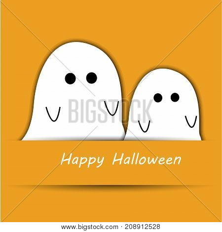 illustration of evils with happy Halloween text on the occasion of Halloween Celebration