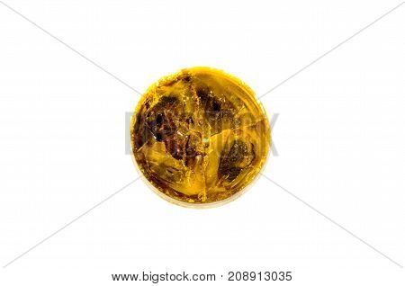 Box With Rosin Isolated On White Background