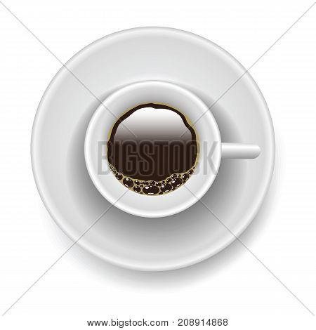 Ceramic cup of coffee isolated on white background
