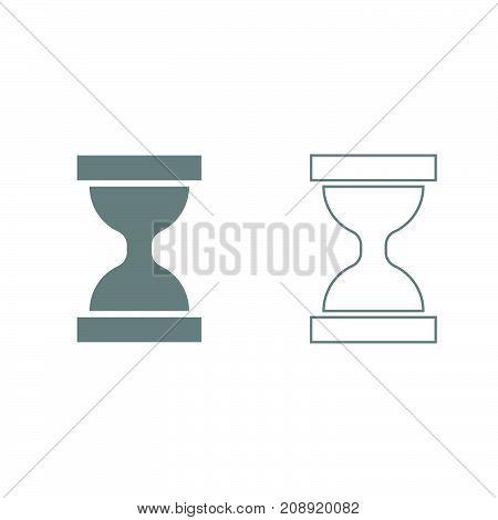 Hourglass Grey Set Icon .