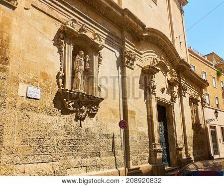 Santo Antonio Della Piazza Church Of Lecce. Puglia, Italy.