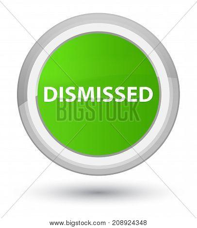Dismissed Prime Soft Green Round Button