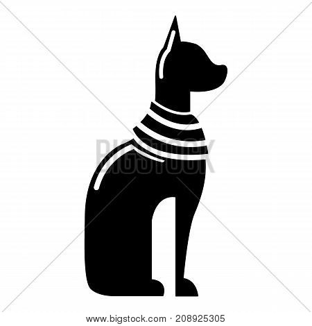 Cat egypt icon. Simple illustration of cat egypt vector icon for web