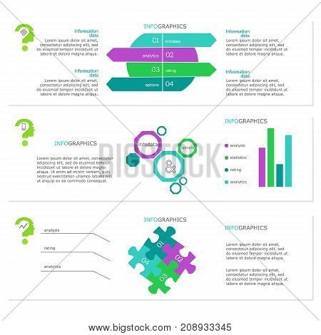 Abstract elements of graph, diagram, Vector business template for presentation. Creative concept for infographic.