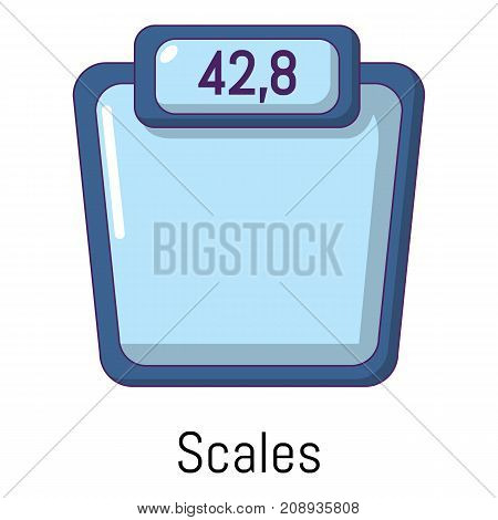 Scales icon. Cartoon illustration of scales vector icon for web
