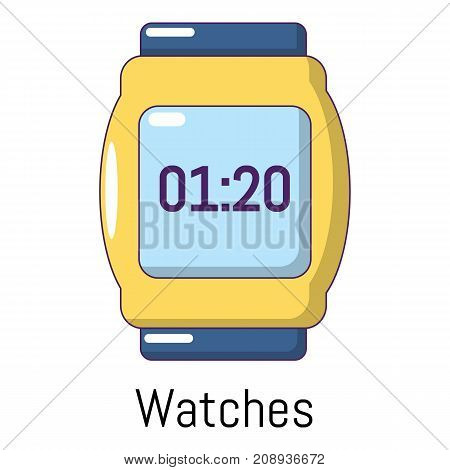Watches icon. Cartoon illustration of watches vector icon for web
