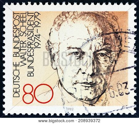 GERMANY - CIRCA 1982: A stamp printed in Germany from the