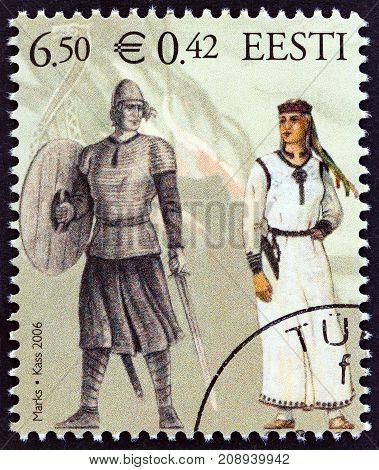 ESTONIA - CIRCA 2006: A stamp printed in Estonia from the