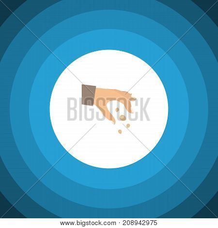 Sow Vector Element Can Be Used For Hand, Sow, Seed Design Concept.  Isolated Hand Flat Icon.
