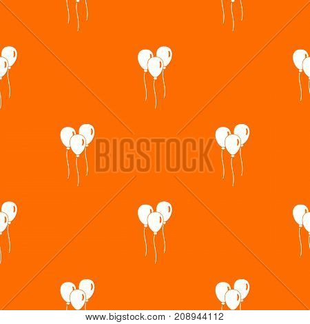 Balloons pattern repeat seamless in orange color for any design. Vector geometric illustration