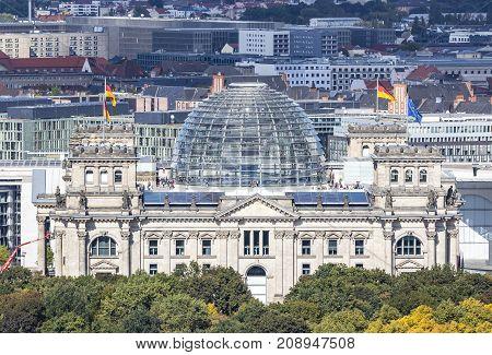 Roof Of German Parliament Building (bundestag) In Berlin, Germany