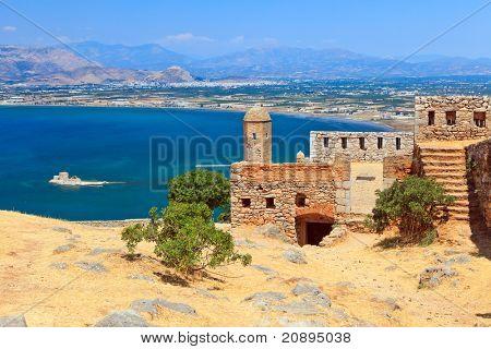 Palamidi castle in Nafplion, Greece poster