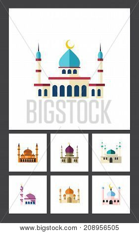 Flat Icon Mosque Set Of Religion, Islam, Muslim And Other Vector Objects