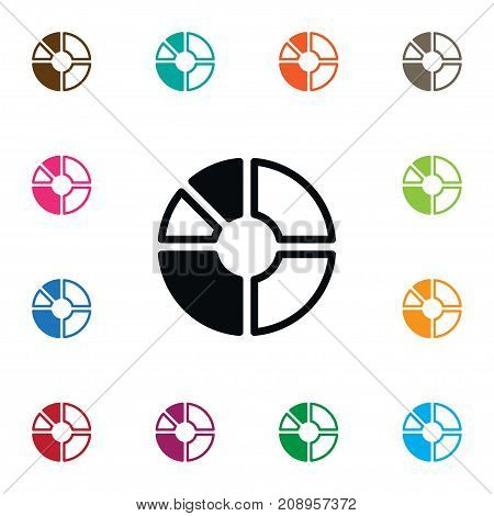 Segment Vector Element Can Be Used For Segment, Part, Circle Design Concept.  Isolated Report Icon.