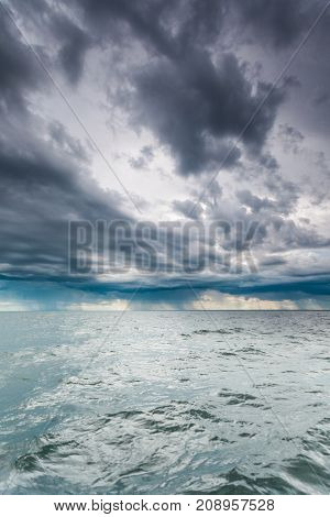 Beautiful Seascape Evening Sea Horizon And Sky