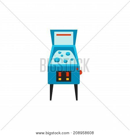Vector icon of pinball machine. Entertainment club, leisure game, break. Table games concept. Can be used for topics like hobby, leisure, pastime