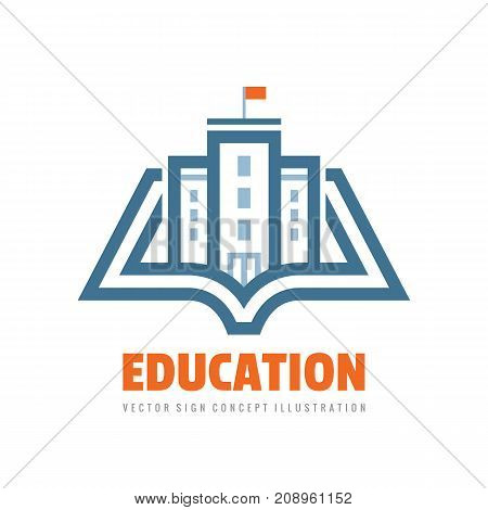 Education - vector logo template concept illustration. Book learning creative sign. Emblem for school or university. Graphic design elements.