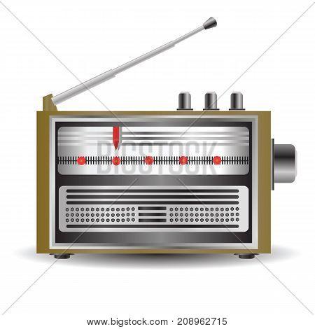 retro radio icon isolated on white background