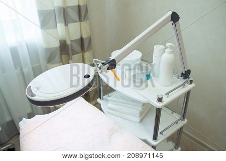 Lamp With Bed And Face Care