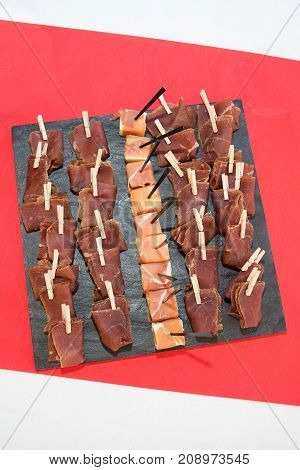 Famous Italian Ham Or Prosciutto In Party Or Event