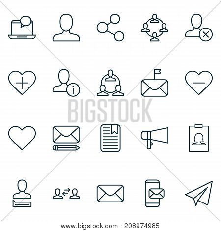 Social Icons Set. Collection Of Edit, Phone Messaging, Communication And Other Elements