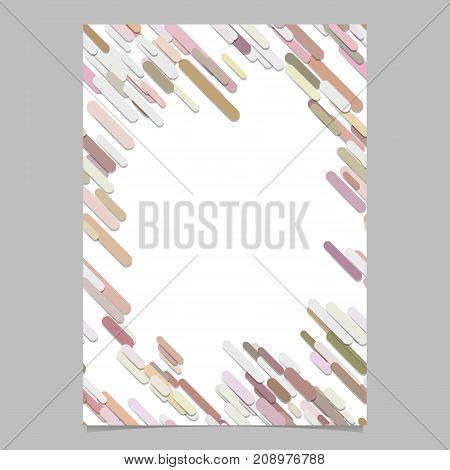 Colored chaotic diagonal rounded stripe pattern flyer template - blank digital vector stationery background design with stripes