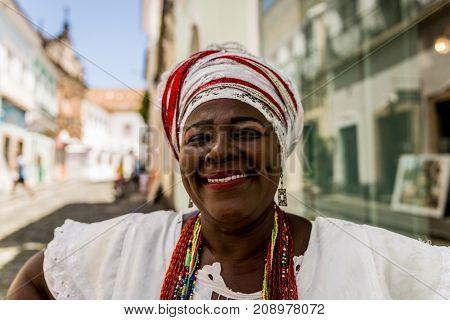 Brazilian woman of African descent, Bahia, Brazil