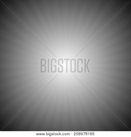 Abstract gradient ray burst background - vector graphic with radial stripe pattern