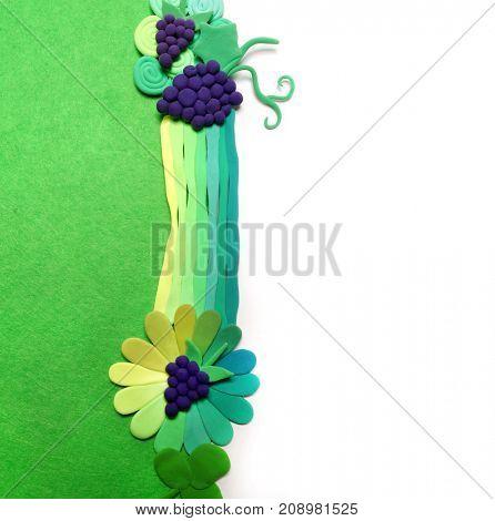 Handmade plasticine berry. Color plasticine. Summer abstraction
